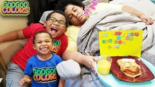 Happy Mother's Day! (Goo Goo Gaga Cooks Breakfast and Surprise Mom!)