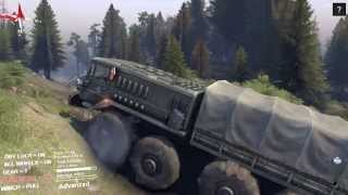 Spintires PC Gameplay - Uncloaking The Volcano (Part 1)