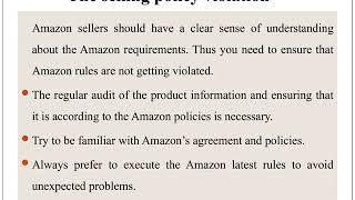 Amazon Reinstatement Service