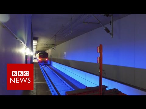 Inside Heathrow's 'immense' secret railway station - BBC News