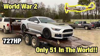 I Bought A Wrecked 2017 Mustang Roush P51 World War 2 Only 51 In The World