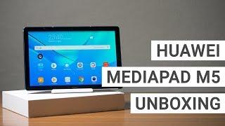 Huawei MediaPad M5 10 Unboxing, Erster Eindruck & Benchmarks | Deutsch