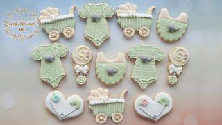 Cute Elephant Baby Shower Cookie Set ~ Unisex Baby Cookies