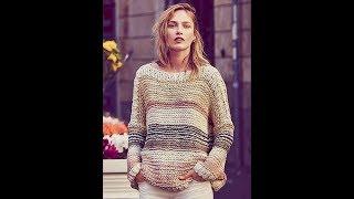 Женский Пуловер Спицами - фото - 2019 / Female Pullover Spokes Photo