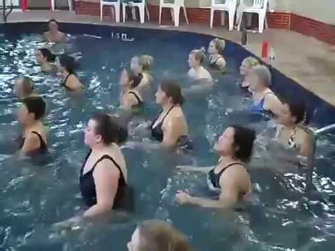 AQUA ZUMBA water-based workout that's good for conditioning, toning and great fun