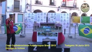 preview picture of video 'Copa cofederaciones Futbolchapas Brasil 2013 en Turégano. Entrega de trofeos'