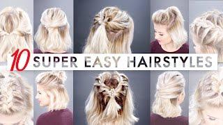 10 Easy Half Up hairstyles for SHORT HAIR Tutorial   Milabu