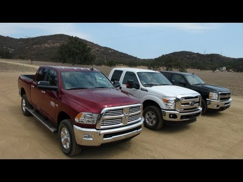 2014 Ram 2500 HD vs Ford F-250 vs Chevy Silverado 2500 0-60 MPH Review