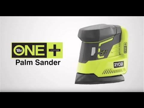 Ryobi ONE+ 18V Cordless Palm Sander Introduction video