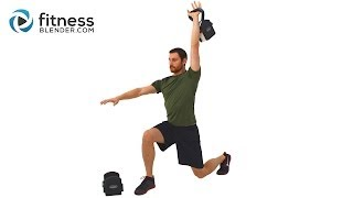 Non-Stop Endurance Kettlebell Workout - 33 Minute Total Body Kettlebell Routine by FitnessBlender