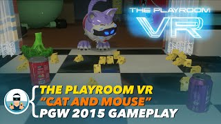 """The Playroom VR """"Cat and Mouse"""" - Paris Games Week 2015 Gameplay Footage   PlayStation VR"""