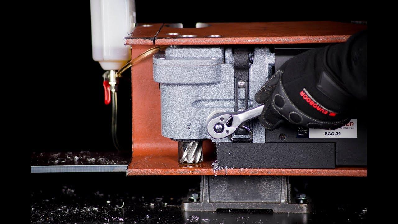Угловой сверлильный станок на магнитном основании, D 12-36 мм