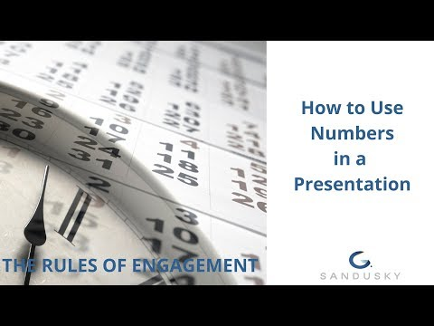 31 How to present numbers and data in a presentation
