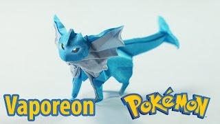 Leafeon  - (Pokémon) - Paper Pokemon - Origami Vaporeon - シャワーズ tutorial (Henry Phạm)