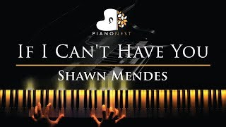 Shawn Mendes   If I Can't Have You   Piano Karaoke  Sing Along Cover With Lyrics