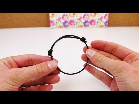 Schiebeknoten binden | Verstellbares Armband selber machen | mit einem Lederband