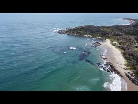 Drone footage of Cape Conran