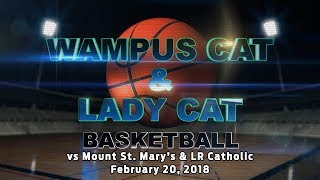 Wampus Cats vs Little Rock Catholic 2/20/18