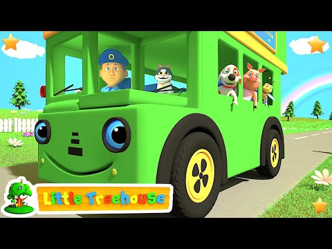 Download Green Wheels on the Bus | Kindergarten Nursery Rhymes & Songs for Kids HD Video