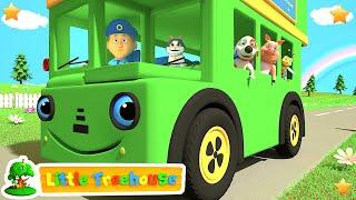 Green Wheels on the Bus   Kindergarten Nursery Rhymes & Songs for Kids