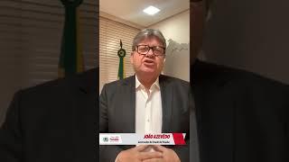 O Governador João Azevedo fala sobre o Coronavírus; Veja o vídeo!