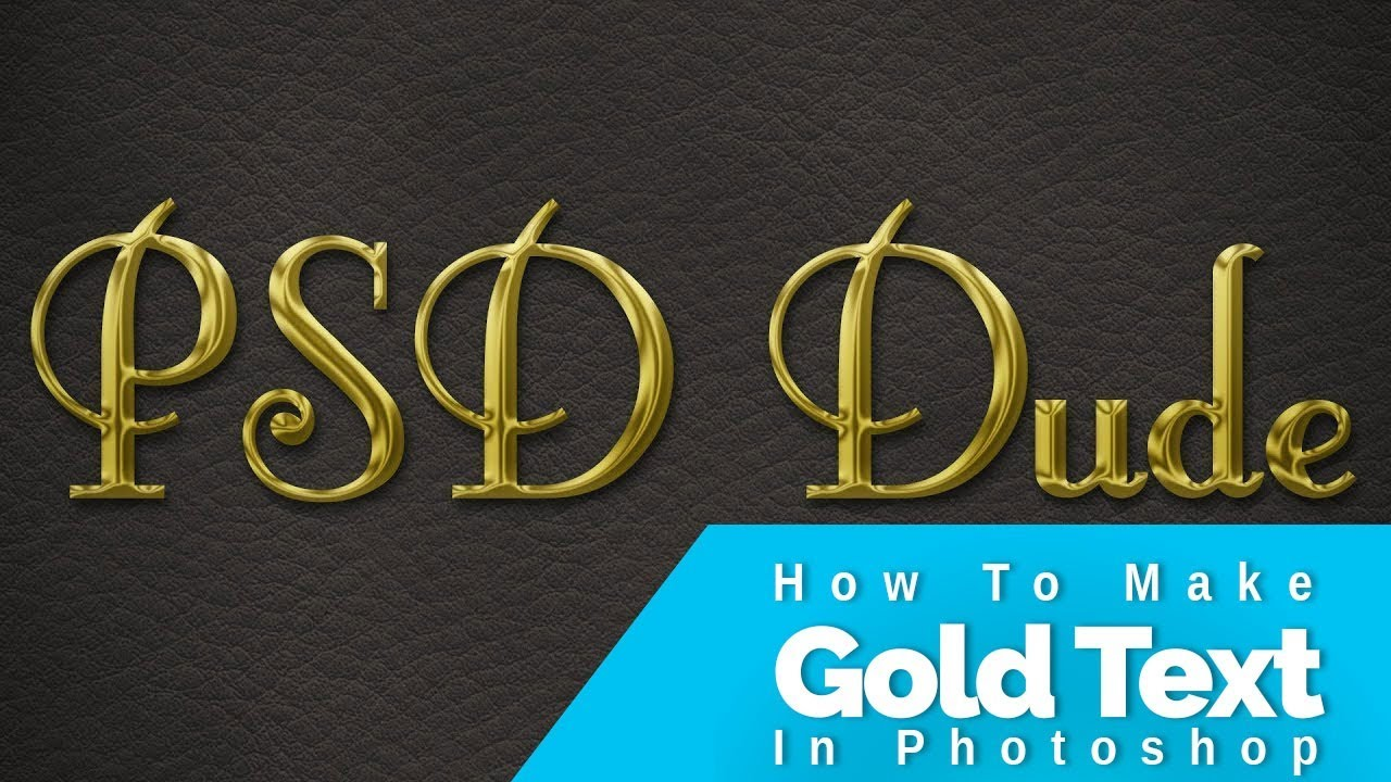 video tutorial: Gold Layer Style: How To Make Gold Text In Photoshop