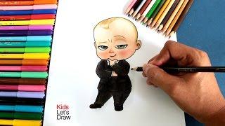 Cómo Dibujar A Bebe Jefazo (Un Jefe En Pañales) | How To Draw Boss Baby