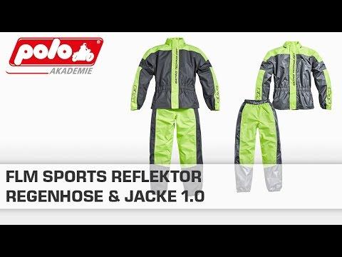 FLM Sports Reflektor Regenhose & Jacke 1.0