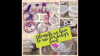 Utensils to avoid for baby's food// bpa free products// baby food containers
