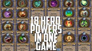 18 Hero Powers In One Turn [Hearthstone]