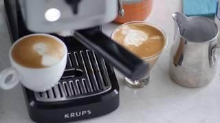 Krups XP 3440 Home Espresso Machine - Espresso + Milk =  Cappuccino