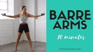 Barre Arm Workout | 10 minutes to Sculpted & Lean Arms