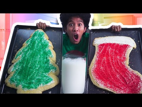 DIY GIANT CHRISTMAS COOKIES AND MILK!!!