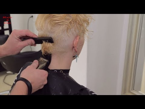 2018-37 Irena preview - long hair buzzed to pixie cut