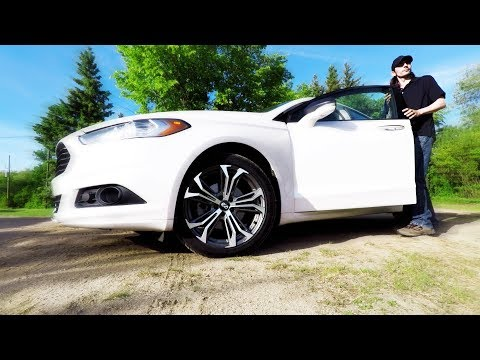Enkei Vortex 5 Wheels on a 2016 Ford Fusion | Before and After