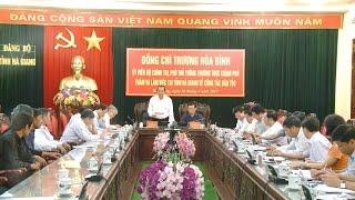 Đồng chí Trương Hòa Bình làm việc với tỉnh Hà Giang về công tác dân tộc