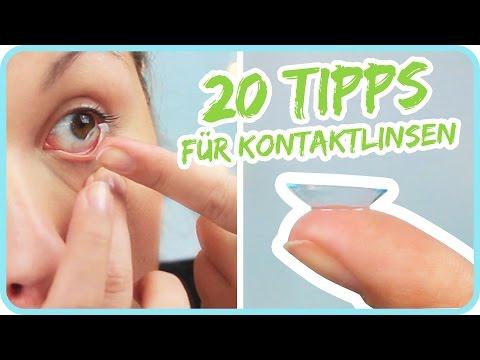 20 TIPPS für Kontaktlinsen
