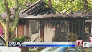 Raleigh house destroyed by fire after birthday party