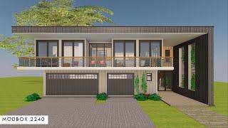 4 Bedroom Container Home Design Floor Plans + 3 Car Garage