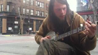 "Sounds of Telegraph Avenue: Nick performs ""Little Sadie"" on Banjo 1/31/12"