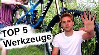 Die 5 WICHTIGSTEN Werkzeuge um am Mountainbike zu schrauben