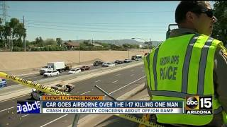 MORE: Investigation continues after car goes airborne on I-17