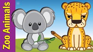 Learn Zoo Animals for Kids | Video Flashcards | Kindergarten, Preschool, ESL | Fun Kids English