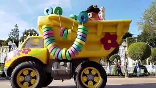 FULL Pixar Play Parade Preview Disneyland Pixar Fest April 12 2018 Lamp Luxo Up Inside Out