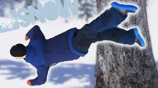SNOW SIMULATOR! RUN INTO TREES! (Snow)