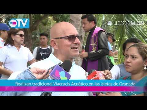 Realizan tradicional Viacrucis Acuático en las isletas de Granada