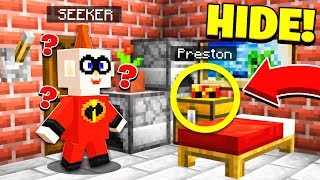 THE BEST HIDING SPOT! | The Incredibles 2 HIDE & SEEK! - Minecraft Mods