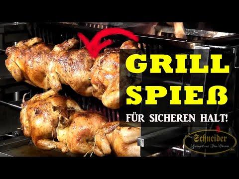 Grillspieß mit oder ohne Fleischklammern - Schneider Grillgeräte