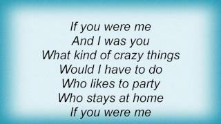 Elton John - If You Were Me Lyrics