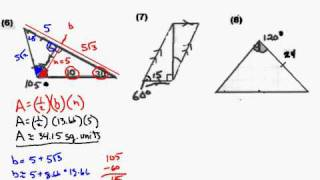 Special Right Triangle Practice Test Solutions 6 8